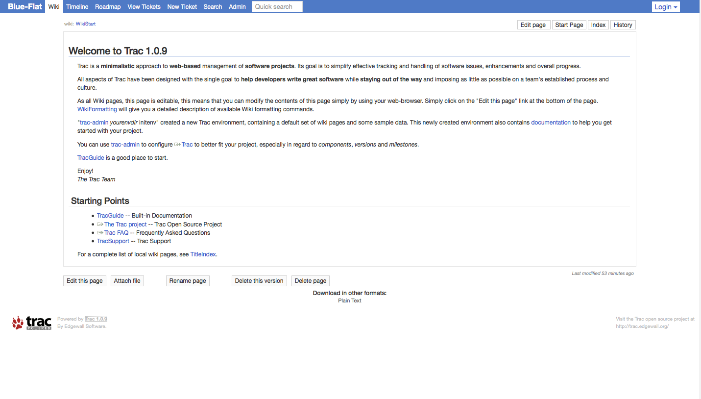 WikiStart screenshot