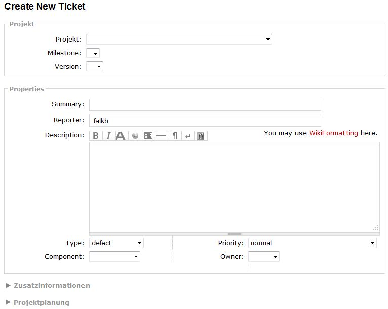 colapsed 'New Ticket' example
