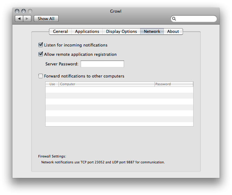 Grown configuration pane (Mac OS X system preferences)