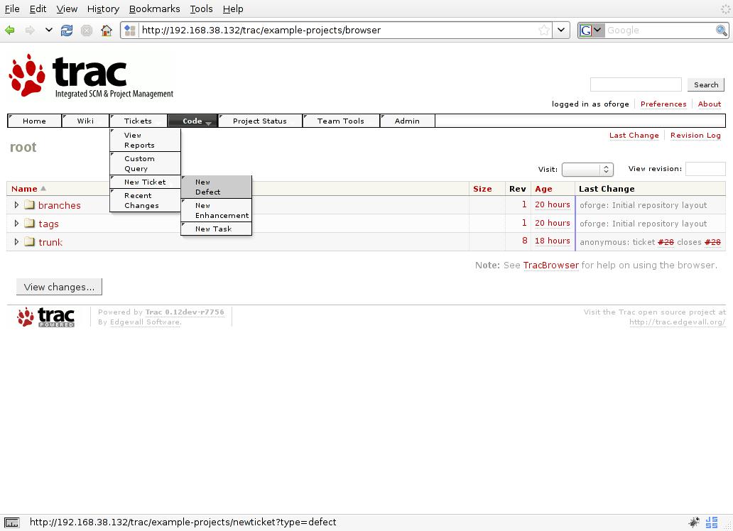 MenusPlugin – Trac Hacks - Plugins Macros etc