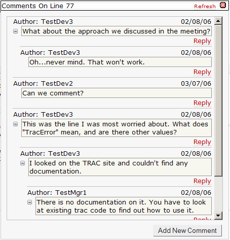 how to provide peer review comments on documentation