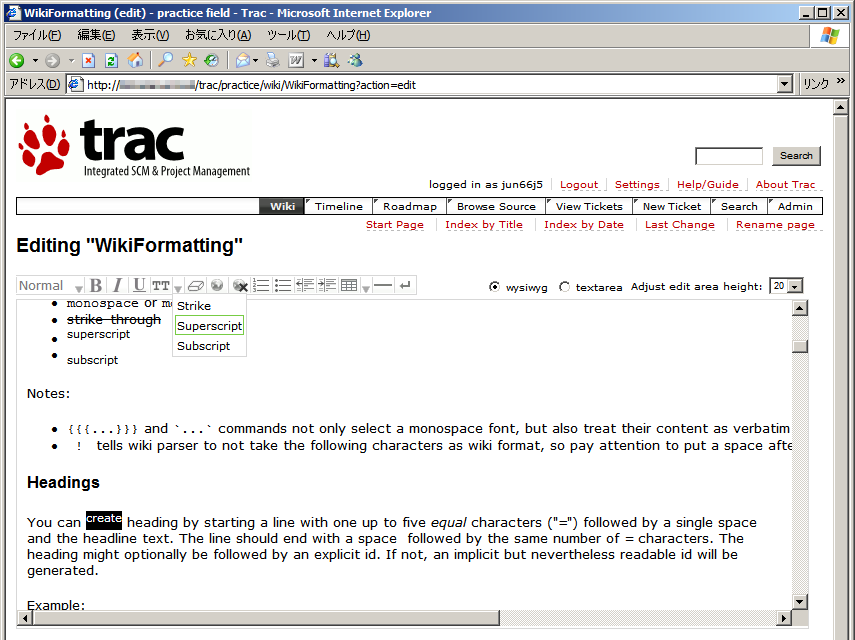 TracWysiwygPlugin – Trac Hacks - Plugins Macros etc