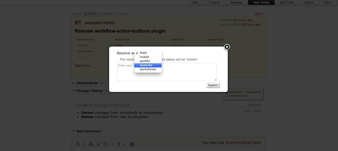 "Screenshot of the plugin's modal form, after clicking the ""Resolve"" button"